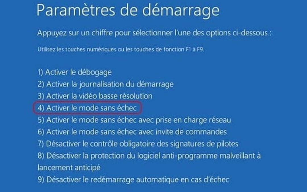 Comment démarrer en mode sans échec sur Windows ?