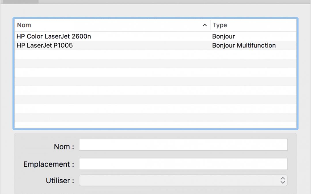 Comment installer une imprimante sur Mac ?